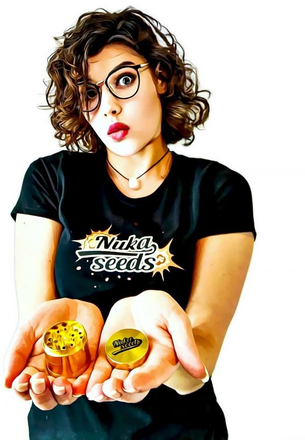 Nuka seeds cannabis grinder girl
