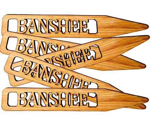 Banshee cannabis flower tags