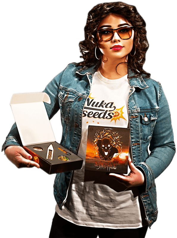 Banshee seeds box with a girls Nuka seeds